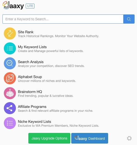 Jaaxy Version for Premium Member